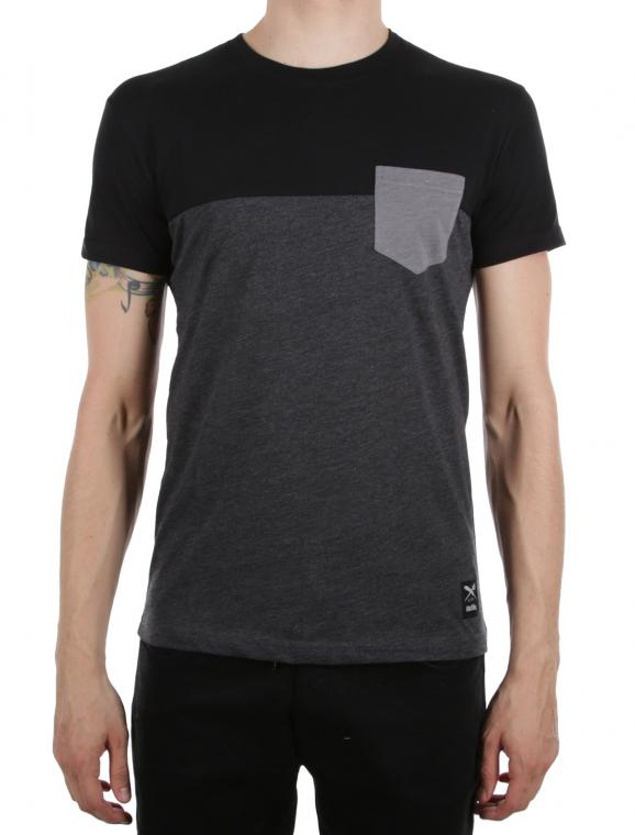 Block Pocket Tee blk