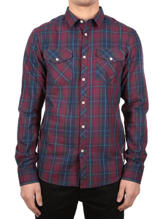 Mc Valle L/S Hemd nvy red