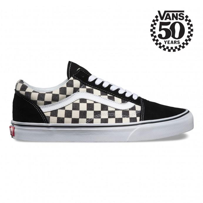 Vans Slip On Black White Checkered Platform Skate Shoes