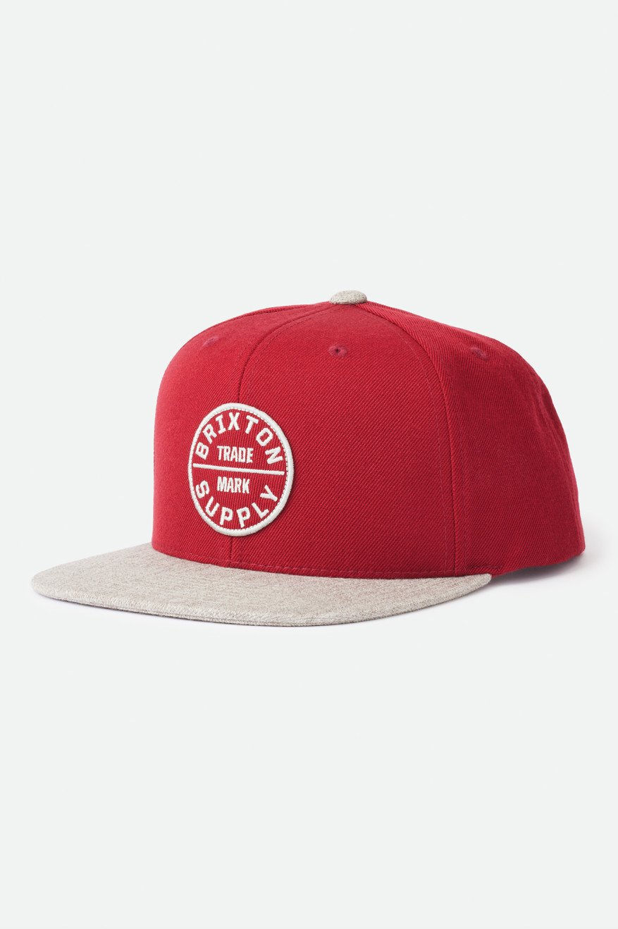 Brixton Oarth III Cap cowhide hearther grey