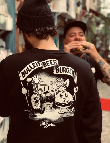 dudes Bulleit Beer And Burger Sweat blk