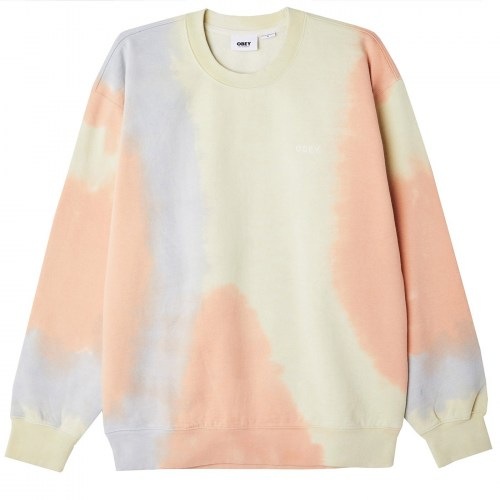 Obey Sustainable Tie Dye Crew Sweat multi