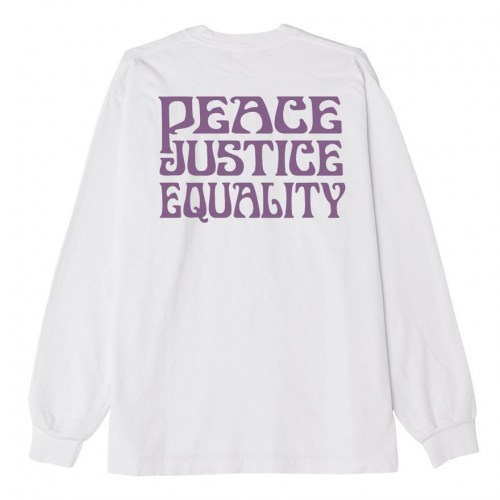 Obey Peace Justice Equality L/S Tee white