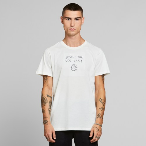 Dedicated Local Planet Stockholm Tee off white