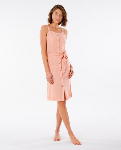 Rip Curl Tallows Spot Midi Kleid coral