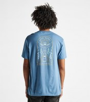 Roark Open Roads Open Minds Tee steel blue