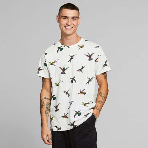 Dedeicated Hummingbirds Tee off white