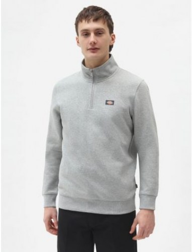 Dickies Oakport Quarter Zip Sweat grey melange