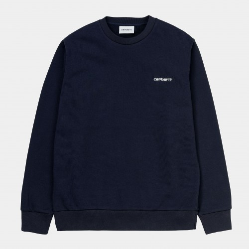 Carhartt Script Embroidery Sweat dark navy white