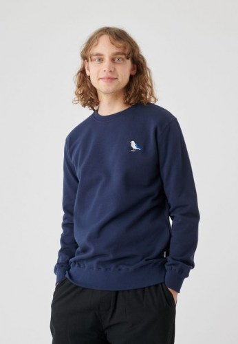 Cleptomanicx Embro Gull Crew Sweat dark navy